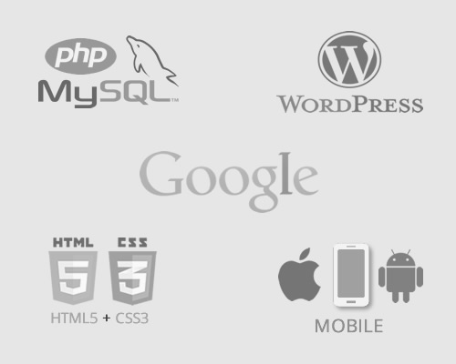 sites wordpress, google, mobile, html5, php e mysql